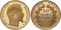 France 50 Francs Louis Napoleon Bonaparte - 1852-1993 - Gold - XF to AU - Proof