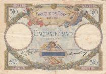 France 50 Francs Luc Olivier Merson - 25-08-1928 Serial V.2794