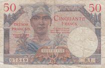 France 50 Francs Mercure, Trésor Français - 1947 - Série  H.1