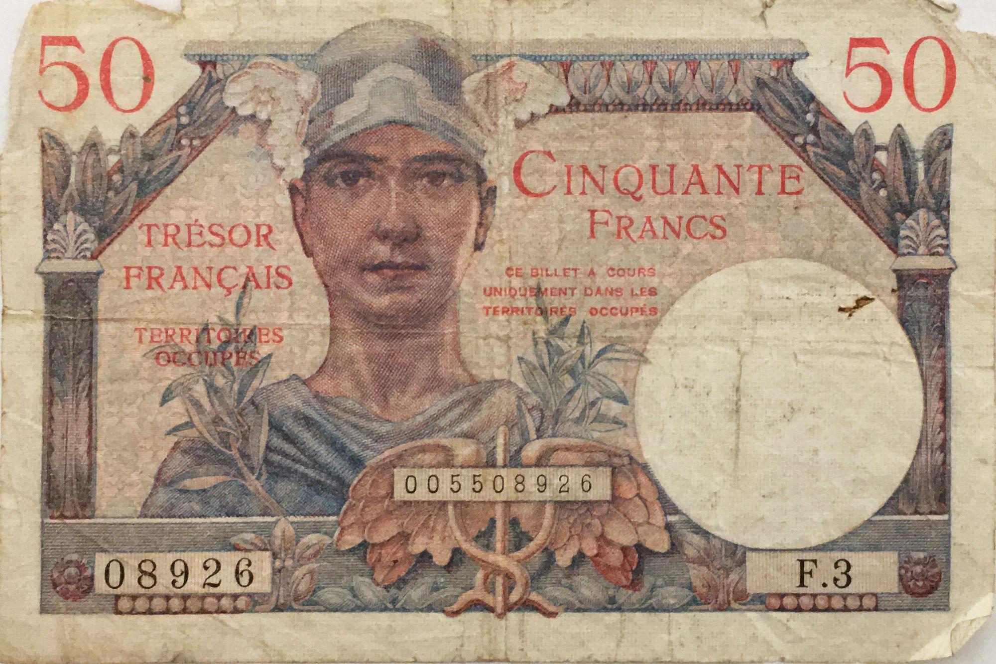 France 50 Francs Mercure, Trésor Français - 1947 - Série F.3 - PTB