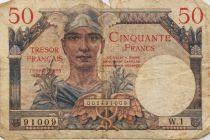 France 50 Francs Mercure, Trésor Français - 1947 - Série W.1 - PTB