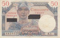 France 50 Francs Mercure, Trésor Français -Suez- 1956 - Série R.1 88395