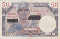 France 50 Francs Mercure, Trésor Français -Suez 1956 - Série Y.1 - TTB+