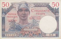 France 50 Francs Mercury, French Treasury - 1947 - Serial E.2 90700