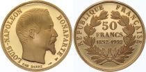France 50 Francs Napoléon III Or -1852-1993 - Proof - SUP
