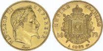 France 50 Francs Napoléon III Tête Laurée - 1862 A Paris - Or