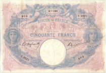 France 50 Francs Pink and blue - 12-07-1902 Serial Y.2221