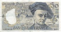 France 50 Francs Quentin de la Tour - 1976 Serial B.1 - VF