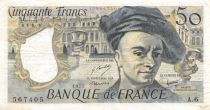 France 50 Francs Quentin de la Tour - 1977 Serial A.6 - F to VF