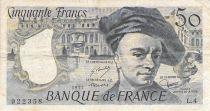 France 50 Francs Quentin de la Tour - 1977 Série L.4 - TB