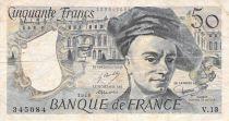 France 50 Francs Quentin de la Tour - 1978 Série V.13 - TB