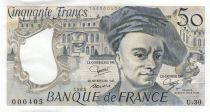 France 50 Francs Quentin de la Tour - 1982 Serial U.30