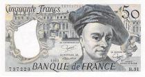 France 50 Francs Quentin de la Tour - 1983 Serial H.31 - aUNC