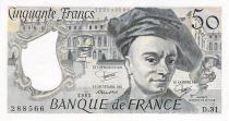 France 50 Francs Quentin de la Tour - 1983 Série D.31 - P.NEUF