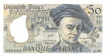France 50 Francs Quentin de la Tour - 1984 Serial A.39 - aUNC