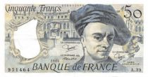 France 50 Francs Quentin de la Tour - 1984 Serial A.39 - VF+