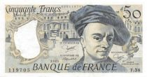 France 50 Francs Quentin de la Tour - 1984 Serial F.38 - XF