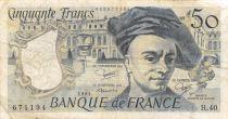 France 50 Francs Quentin de la Tour - 1984 Série H.40 - TB