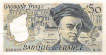 France 50 Francs Quentin de la Tour - 1984 Série N.36 - TTB