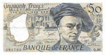 France 50 Francs Quentin de la Tour - 1984 Série Q.36 - TTB