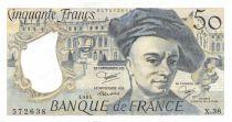 France 50 Francs Quentin de la Tour - 1984 Série X.38 - TTB+
