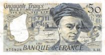 France 50 Francs Quentin de la Tour - 1986 Serial A.46 - F to VF