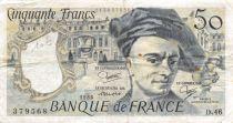 France 50 Francs Quentin de la Tour - 1986 Série D.46 - TB