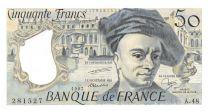 France 50 Francs Quentin de la Tour - 1987 Serial A.48 - aUNC