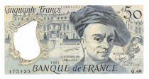 France 50 Francs Quentin de la Tour - 1987 Serial Q.48 - UNC