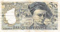 France 50 Francs Quentin de la Tour - 1987 Serial U.49 - F+