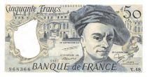 France 50 Francs Quentin de la Tour - 1987 Serial V.48 - AU