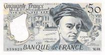 France 50 Francs Quentin de la Tour - 1987 Serial W.48 - AU