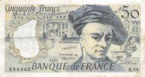 France 50 Francs Quentin de la Tour - 1987 Série B.49 - TB+