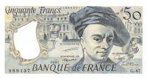 France 50 Francs Quentin de la Tour - 1987 Série G.47 - P.NEUF