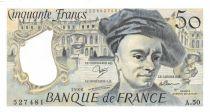 France 50 Francs Quentin de la Tour - 1988 Serial A.50 - AU+