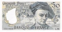 France 50 Francs Quentin de la Tour - 1988 Serial L.53 - AU+