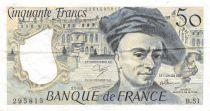 France 50 Francs Quentin de la Tour - 1988 Série B.51 - TTB