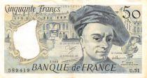 France 50 Francs Quentin de la Tour - 1988 Série U.51 - TTB+