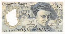France 50 Francs Quentin de la Tour - 1989 Serial A.55 - XF
