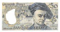 France 50 Francs Quentin de la Tour - 1989 Serial C.58 - AU+