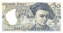 France 50 Francs Quentin de la Tour - 1989 Serial E.57 - aUNC