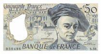 France 50 Francs Quentin de la Tour - 1989 Serial S.56 - AU