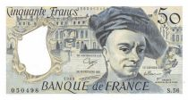 France 50 Francs Quentin de la Tour - 1989 Serial S.56 - AU