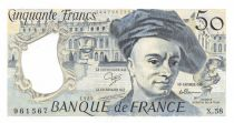 France 50 Francs Quentin de la Tour - 1989 Serial X.58 - XF