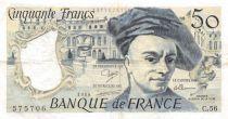 France 50 Francs Quentin de la Tour - 1989 Série C.56 - PTTB