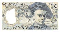France 50 Francs Quentin de la Tour - 1989 Série N.55 - SUP+