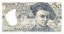 France 50 Francs Quentin de la Tour - 1989 Série S.57 - TTB