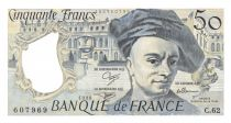 France 50 Francs Quentin de la Tour - 1990 Serial C.62 - AU+