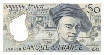 France 50 Francs Quentin de la Tour - 1990 Série C.62 - SUP