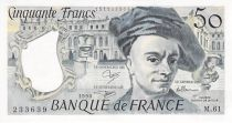 France 50 Francs Quentin de la Tour - 1990 Série M.61 - SPL